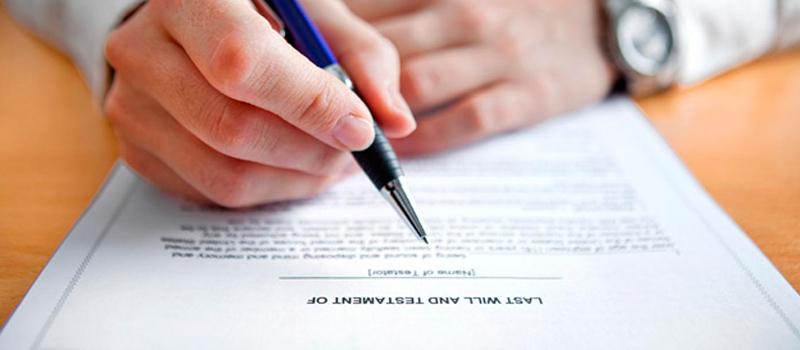 escritura aceptación de herencia